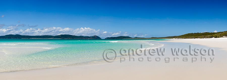 View along Whitehaven Beach on Whitsunday Island