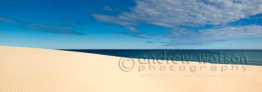 Sand dunes along the Ningaloo coast in Cape Range National Park
