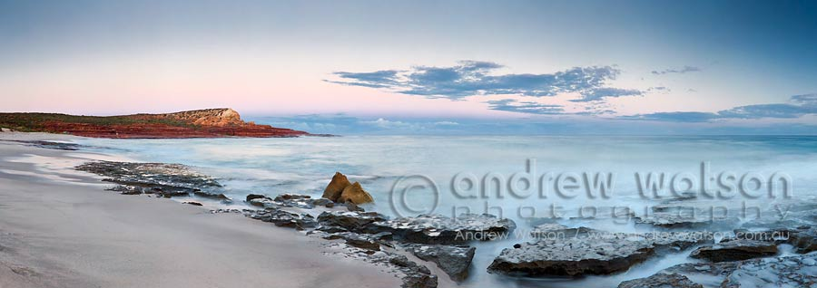 Twilight view along Red Bluff Beach in Kalbarri