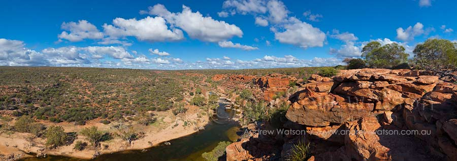View from Hawk's Head lookout in Kalbarri National Park
