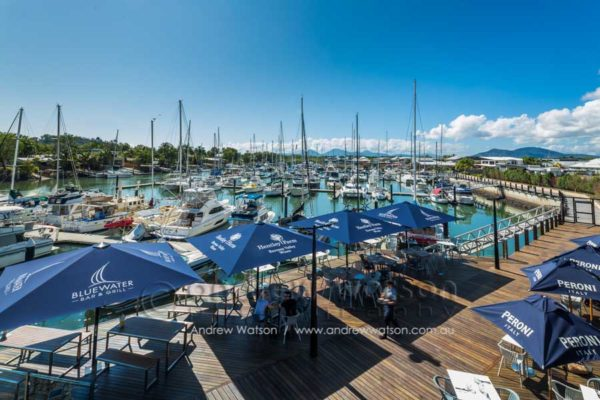 Marina and deck of Bluewater Bar & Grill Trinity Park, Cairns
