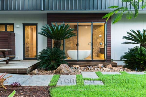 Exterior of the Guest residential home for Total Project Group Architects