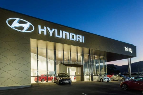 Architectural image of Trinity Hyundai's showroom, Cairns