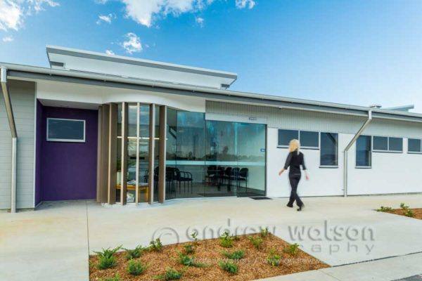 Exterior of Amaroo Medical Centre in Mareeba at twilight