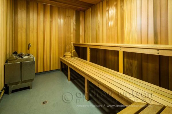 Sauna in the Oceans Edge health centre, Palm Cove