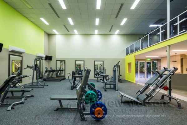 Gymnasium at the Oceans Edge health centre, Palm Cove