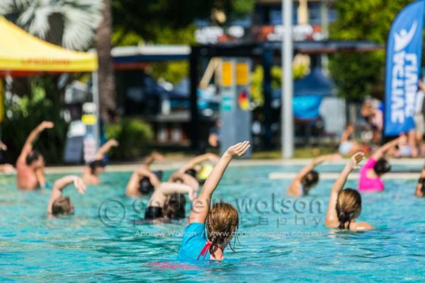 Exercise class in the Cairns Esplanade Pool