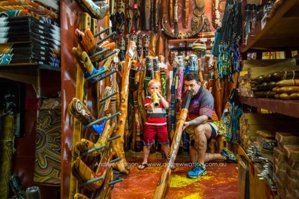 Didgeridoos and other indigenous crafts in the Night Markets, Cairns