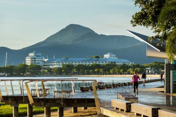 View along Esplanade Boardwalk to the Pier, Cairns