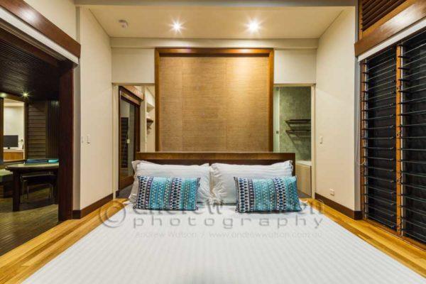 Room interior at Bedarra Island Resort, Mission Beach