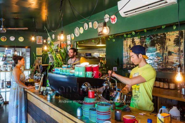 Barista at Origin Espresso, Port Douglas