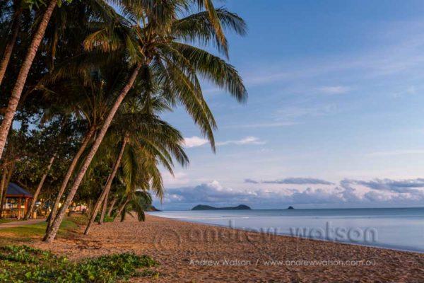 Dawn along the beach at Trinity Beach