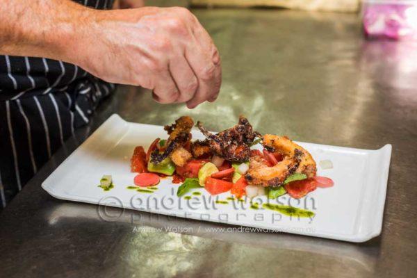 Calamari dish at Perrotta's Cafe, Cairns