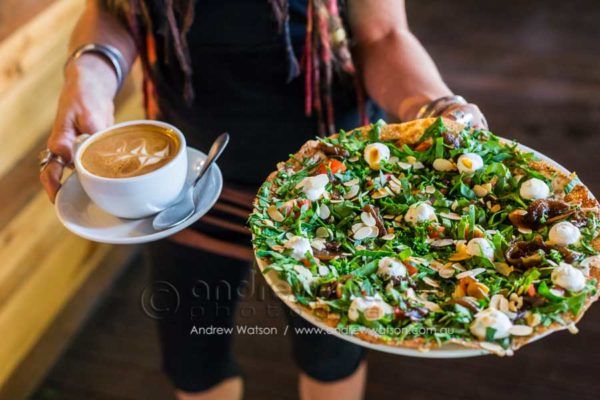 Crepe and coffee at the Petite Cafe, Kuranda