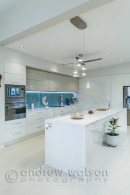 Interior image of residential kitchen for Ash Moseley Homes, Cairns