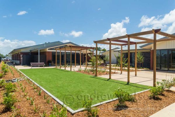 Bocce court and garden at Regis Caboolture
