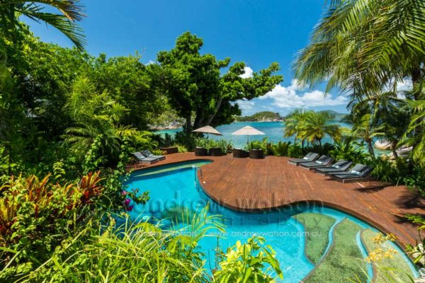 Pool at Bedarra Island Resort, Mission Beach