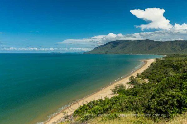 Coastal view along Wangetti Beach from Rex's Lookout