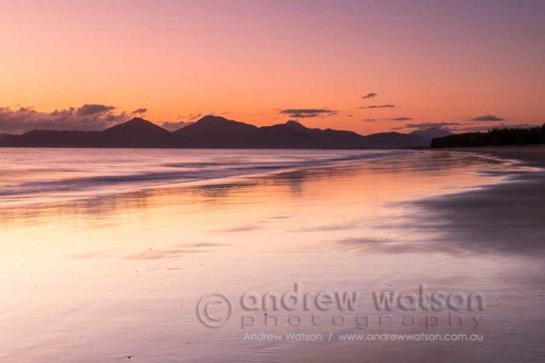 Dawn scene at Yorkeys Knob beach