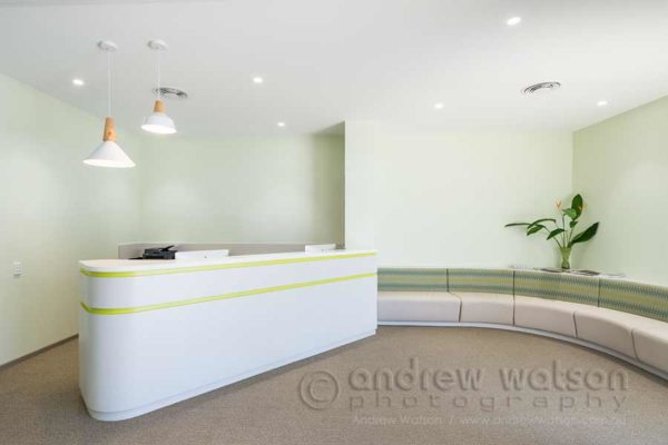 Interior image of Gardens Medical Clinic reception in Cairns