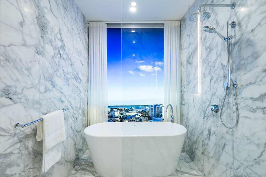 Image of Nova City Cairns display suite bathroom