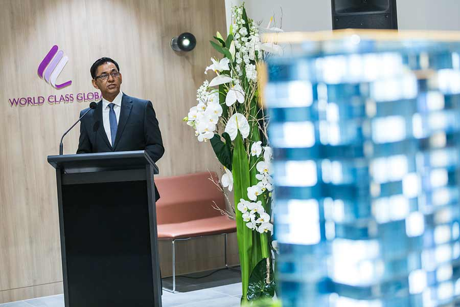Image of Zak Thaker at Nova City Cairns Launch