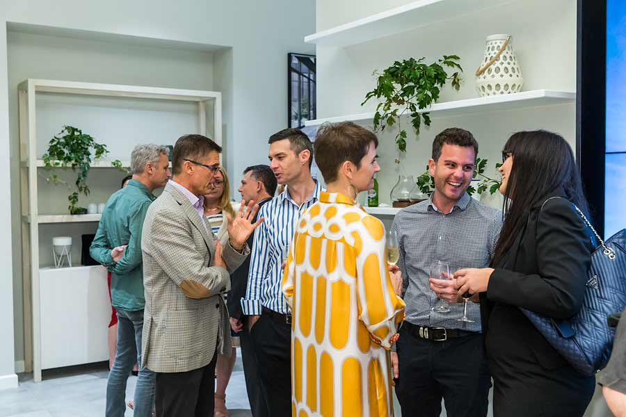Image of guests socialising at Nova City Cairns Launch