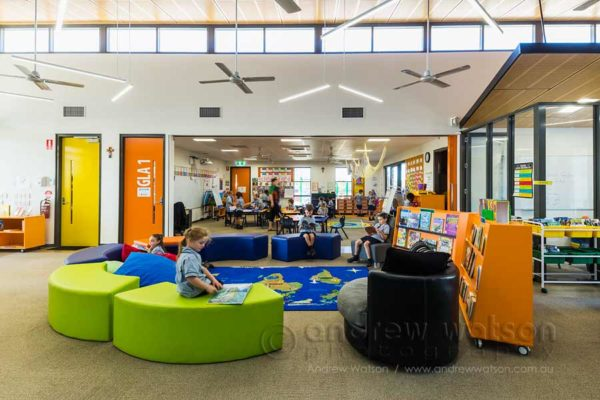 Image of students in library at St Joseph's Parish School