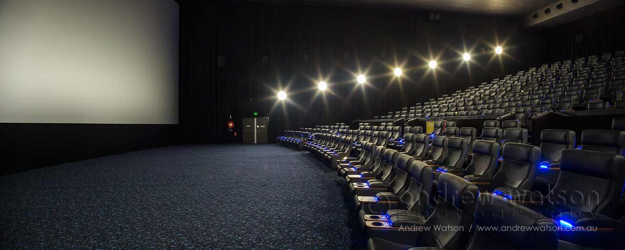 Panoramic Image of Vmax cinema interior at Smithfield Event Cinemas