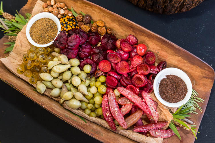 Image of indigenous, bush tucker ingredients used in modern Australian cuisine