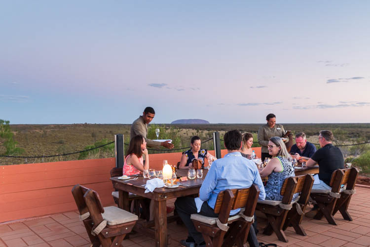 Image of guests at the Ayers Rock Resort Tali Wiru dinner